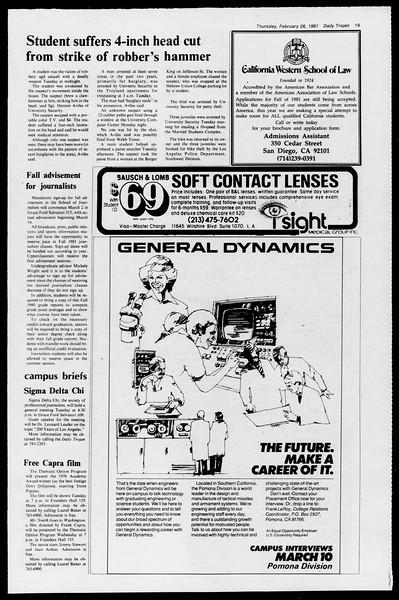 Daily Trojan, Vol. 90, No. 16, February 26, 1981