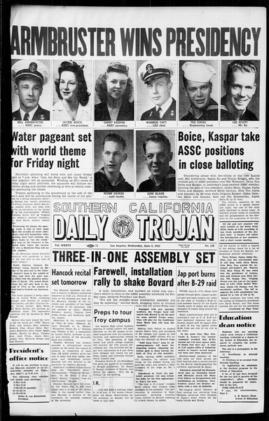 Daily Trojan, Vol. 36, No. 138, June 06, 1945