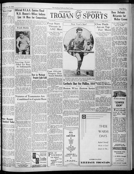 Daily Trojan, Vol. 25, No. 145, May 29, 1934