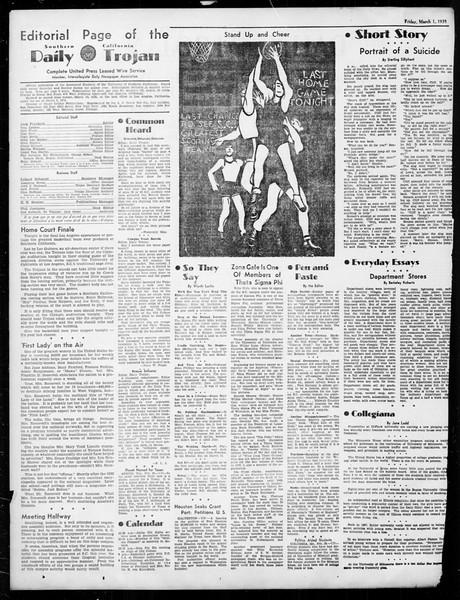 Daily Trojan, Vol. 26, No. 86, March 01, 1935