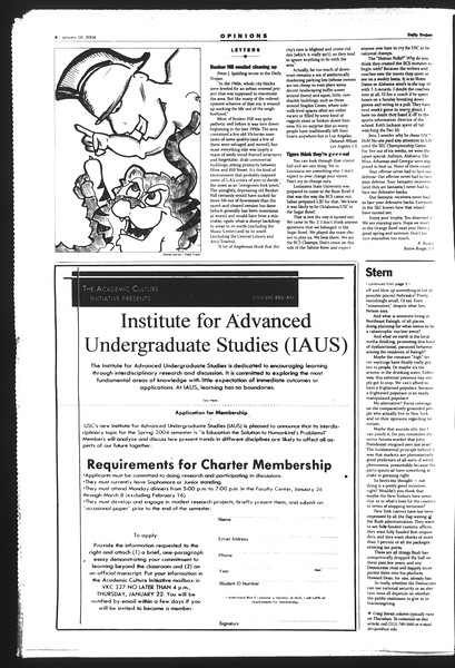 Daily Trojan, Vol. 151, No. 4, January 16, 2004