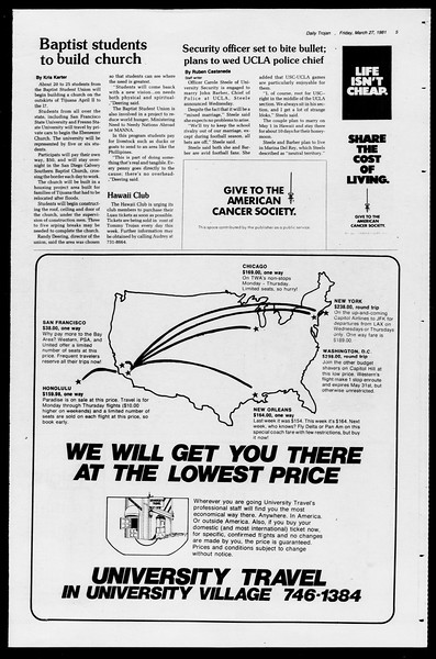 Daily Trojan, Vol. 90, No. 35, March 27, 1981