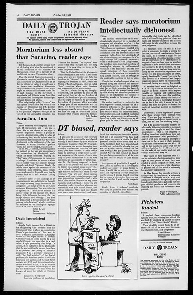 Daily Trojan, Vol. 61, No. 30, October 24, 1969