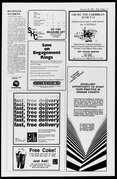 Daily Trojan, Vol. 90, No. 15, February 25, 1981