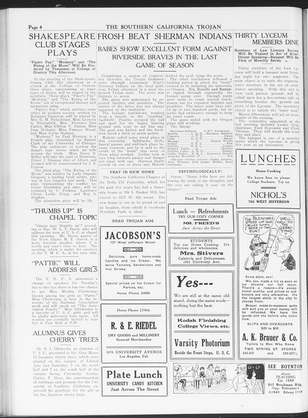 The Southern California Trojan, Vol. 7, No. 35, November 16, 1915