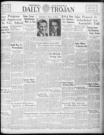 Daily Trojan, Vol. 25, No. 100, March 20, 1934