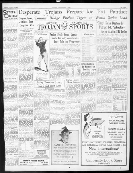 Daily Trojan, Vol. 26, No. 12, October 08, 1934