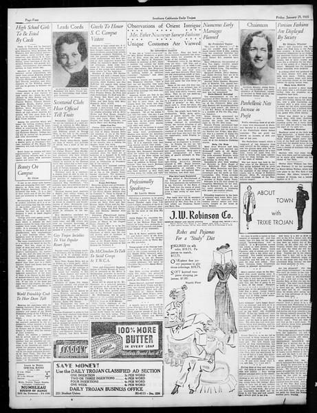 Daily Trojan, Vol. 26, No. 73, January 25, 1935