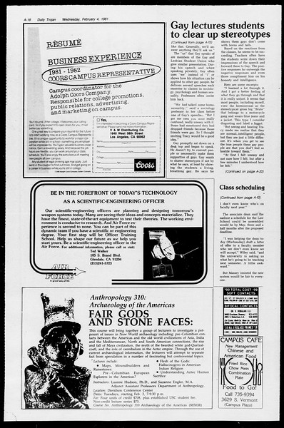 Daily Trojan, Vol. 90, No. 1, February 04, 1981