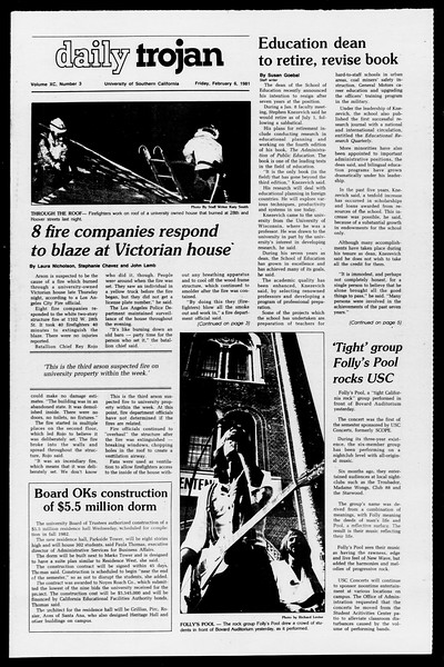 Daily Trojan, Vol. 90, No. 3, February 06, 1981