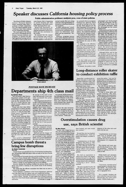 Daily Trojan, Vol. 90, No. 33, March 24, 1981