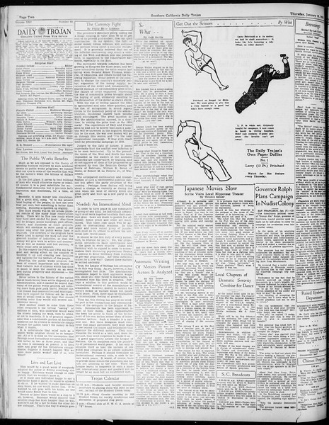Daily Trojan, Vol. 25, No. 66, January 18, 1934