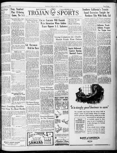 Daily Trojan, Vol. 25, No. 106, April 04, 1934