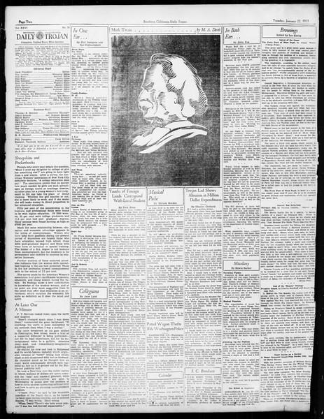 Daily Trojan, Vol. 26, No. 70, January 22, 1935