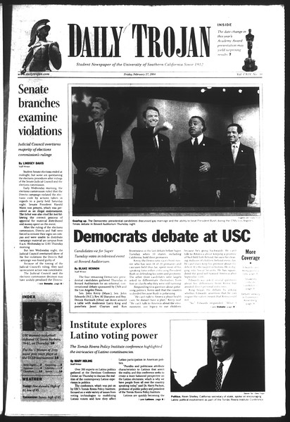 Daily Trojan, Vol. 151, No. 30, February 27, 2004