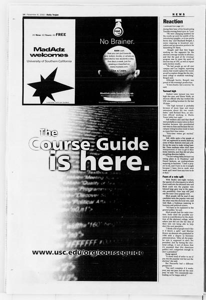 Daily Trojan, Vol. 141, No. 50, November 08, 2000