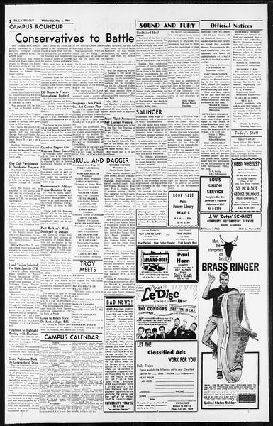 Daily Trojan, Vol. 55, No. 112, May 06, 1964