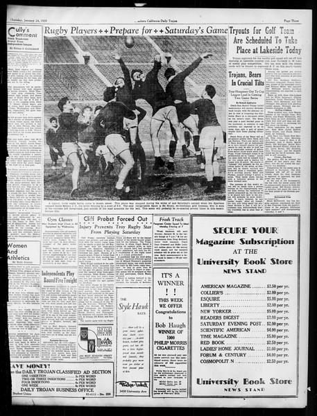 Daily Trojan, Vol. 26, No. 72, January 24, 1935
