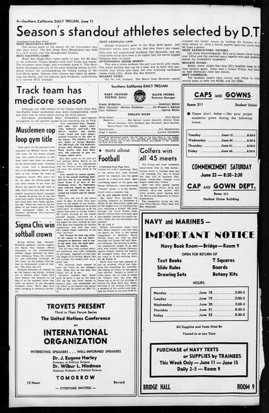 Daily Trojan, Vol. 36, No. 141, June 11, 1945