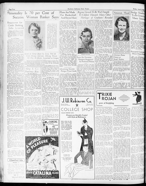 Daily Trojan, Vol. 25, No. 108, April 06, 1934