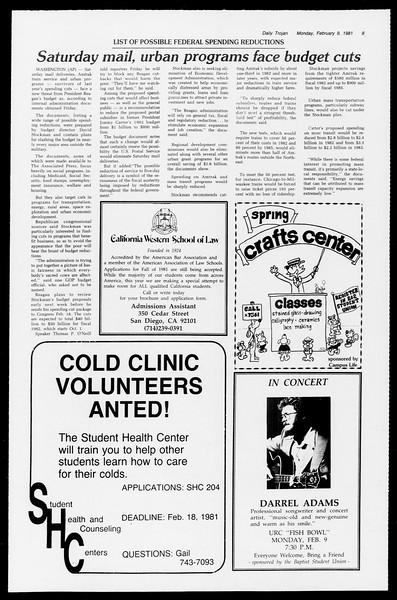 Daily Trojan, Vol. 90, No. 4, February 09, 1981