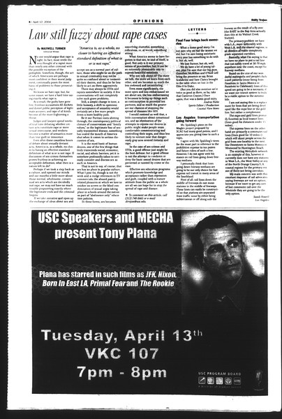Daily Trojan, Vol. 151, No. 54, April 12, 2004