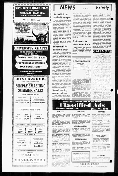 Summer Trojan, Vol. 60, No. 9, July 18, 1969