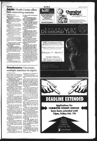 Daily Trojan, Vol. 151, No. 17, February 06, 2004
