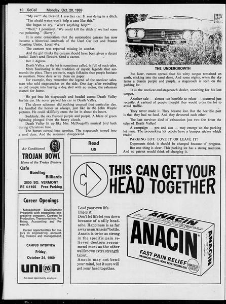 SoCal, Vol. 61, No. 26, October 20, 1969