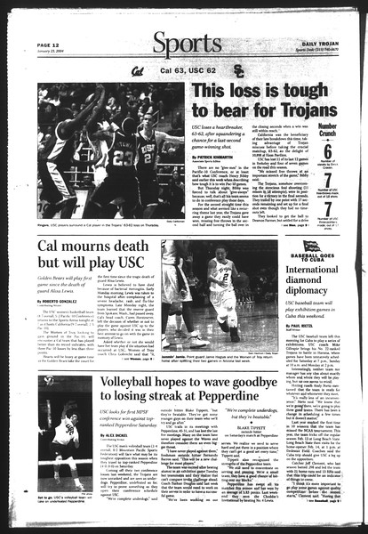 Daily Trojan, Vol. 151, No. 7, January 23, 2004