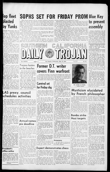 Daily Trojan, Vol. 36, No. 83, March 21, 1945