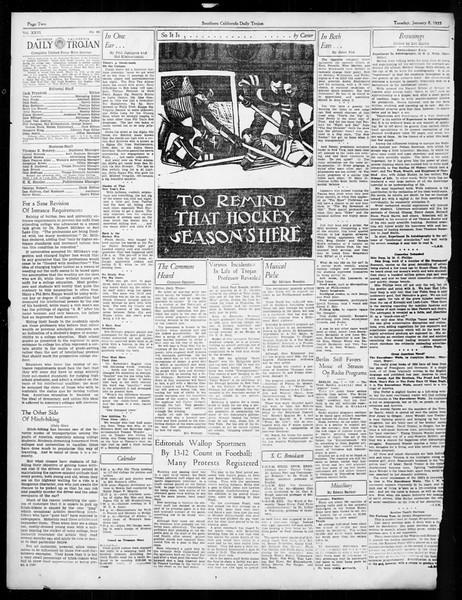 Daily Trojan, Vol. 26, No. 60, January 08, 1935