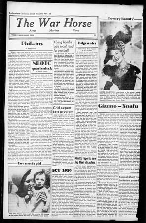 Daily Trojan, Vol. 36, No. 15, November 28, 1944