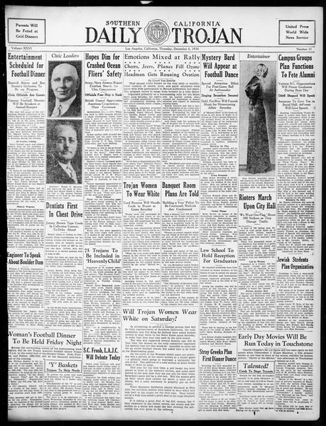 Daily Trojan, Vol. 26, No. 51, December 06, 1934