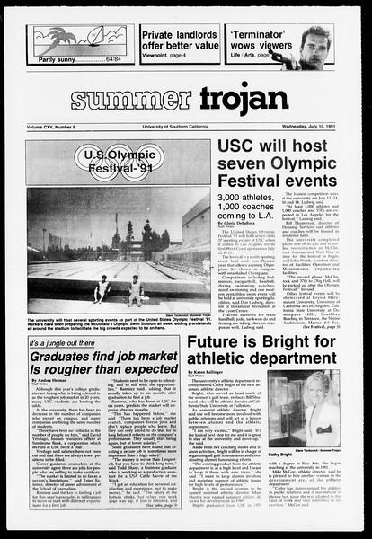 Summer Trojan, Vol. 115, No. 9, July 10, 1991