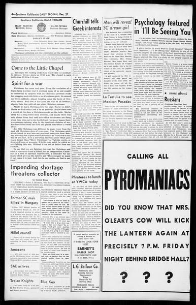 Daily Trojan, Vol. 36, No. 34, December 27, 1944