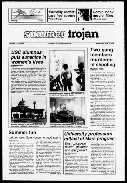 Summer Trojan, Vol. 115, No. 7, June 26, 1991