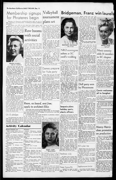 Daily Trojan, Vol. 36, No. 24, December 11, 1944
