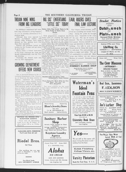 The Southern California Trojan, Vol. 7, No. 83, March 09, 1916