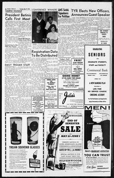 Daily Trojan, Vol. 55, No. 120, May 19, 1964