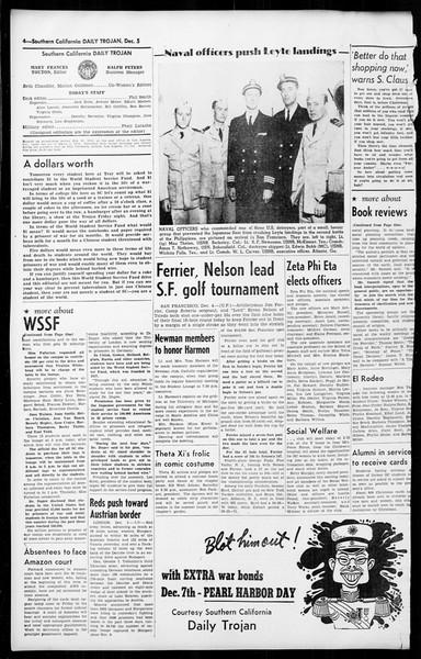Daily Trojan, Vol. 36, No. 20, December 05, 1944