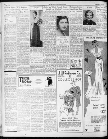 Daily Trojan, Vol. 25, No. 132, May 11, 1934