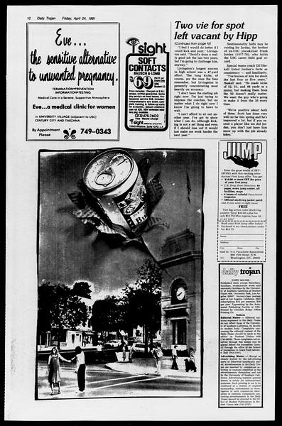 Daily Trojan, Vol. 90, No. 48, April 24, 1981