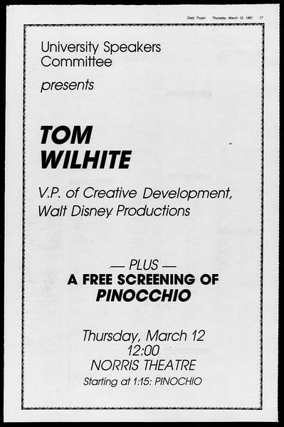 Daily Trojan, Vol. 90, No. 25, March 12, 1981