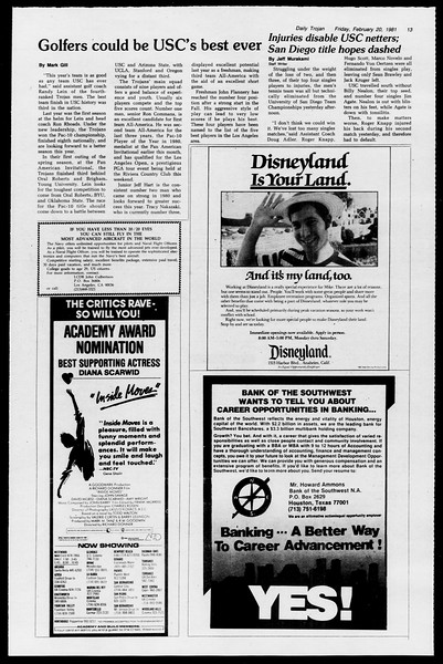 Daily Trojan, Vol. 90, No. 12, February 20, 1981