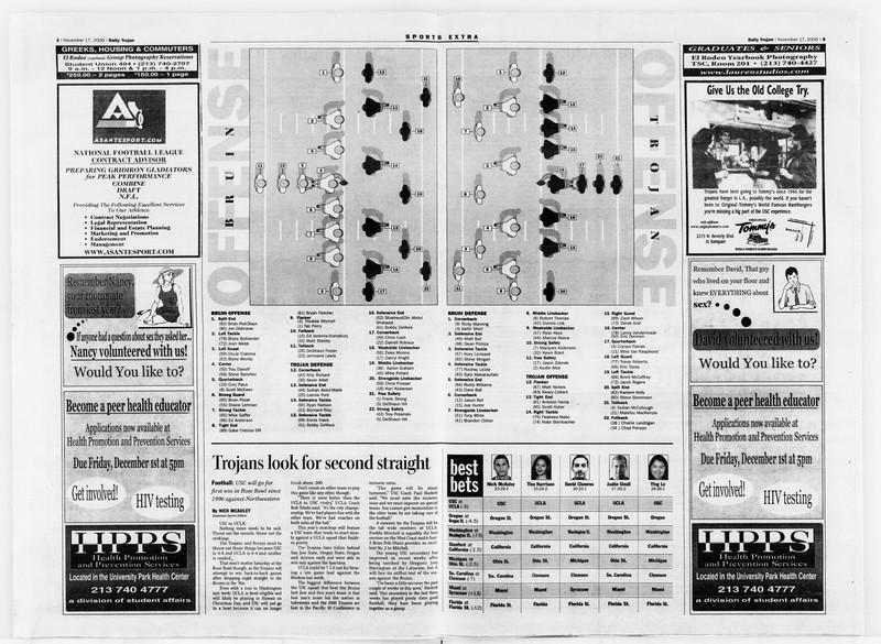 Daily Trojan, Vol. 141, No. 57, November 17, 2000