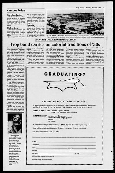 Daily Trojan, Vol. 90, No. 59, May 11, 1981