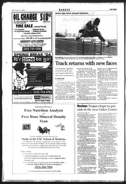 Daily Trojan, Vol. 151, No. 20, February 11, 2004