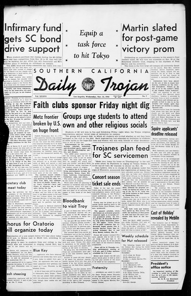 Daily Trojan, Vol. 36, No. 7, November 15, 1944