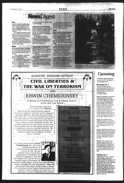Daily Trojan, Vol. 151, No. 15, February 04, 2004